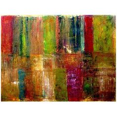 Trademark Fine Art Color Panel Abstract Canvas Art by Michelle Calkins, Size: 24 x 32, Multicolor