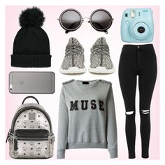 """""""Sem título #66"""" by fashionstylenoww ❤ liked on Polyvore featuring Topshop, adidas Originals, MCM, Forever 21 and Native Union"""