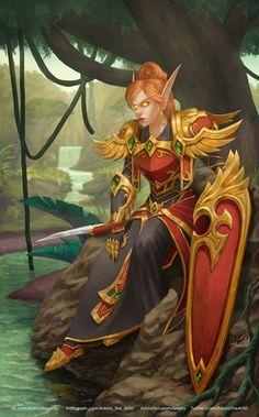 ArtStation-Malessa Dawnrose, Kirill Stepanov - world of warcraft - Game Art World Of Warcraft Characters, Fantasy Characters, Female Characters, Fantasy Character Design, Character Inspiration, Character Art, Medieval, Fantasy Warrior, Fantasy Art