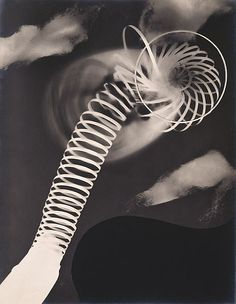 Man Ray: No title (Metal coil) 1922 - gelatin silver photograph photogram (called rayograph by the artist).