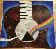 Abstract Pink Floyd music acrylic painting. Feb. 23rd, 2017