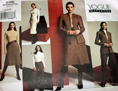 Vogue 2756 Sewing Pattern Misses' Vogue by Old2NewMemories on Etsy