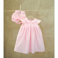 Set-Pink eyelet lace Baby girl Dress Diaper... (165 BGN) ❤ liked on Polyvore featuring etsy treasury
