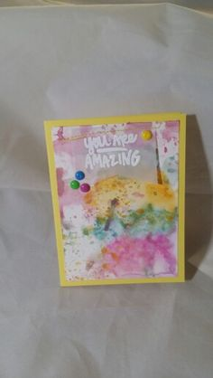 You Are Amazing -Reverse Confetti