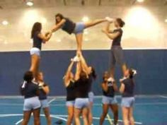 Discover recipes, home ideas, style inspiration and other ideas to try. Easy Cheer Stunts, Cheerleading Videos, Youth Cheerleading, Cheer Camp, Cheer Coaches, Cheer Dance, Gymnastics, Cheer Pyramids, Cheerleading Pyramids