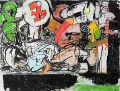 Eddie Martinez Eddie Martinez, Comic Books, Abstract Paintings, Comics, Anime, Mindfulness, America, Illustrations, Style