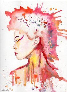 "Saatchi Art Artist Maurizio Puglisi; Painting, ""Akatsuki (red moon)"" #art"