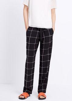 Victoria Beckham Plaid Check Tweed Pencil Skirt ...
