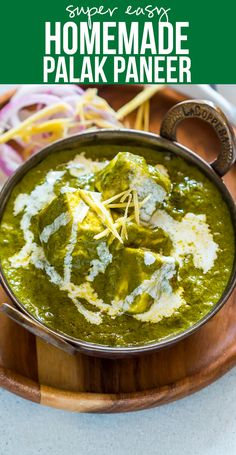 palak paneer is a popular indian vegetarian recipe where indian