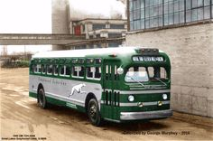Yes, a green Greyhound -- Hulk, Bus Motorhome, Bus City, Transportation Technology, Bus Terminal, Dog Grooming Business, Road Train, Bus Coach, Bus Conversion
