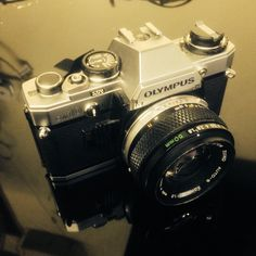 My Olympus OM10 with the Zuiko 1.8/50mm lens. Loaded with Kentmere 400 BW film, ready to roll :)