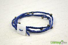 Finished woven friendship bracelet for men