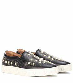 a7681f906ee Cosmic Pearls leather slip-on sneakers | Aquazzura Glida På Sneakers, Skor  Sneakers,