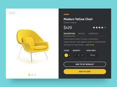 Hello! I Hope you are in a good vibe today, like me seeing this vibrant yellow chair. Let's buy some yellow chairs? Hope you like :3. If you like UX, design, or design thinking, check out theuxblog.com