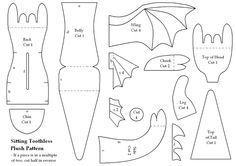 how to train your dragon toothless free pattern - i can't wait to make this!!!!