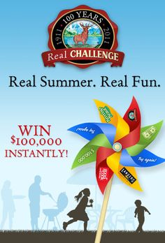 """I entered for a chance to instantly win $100,000 in the Challenge Butter """"Real Summer. Real Fun"""" Instant Win Game!"""