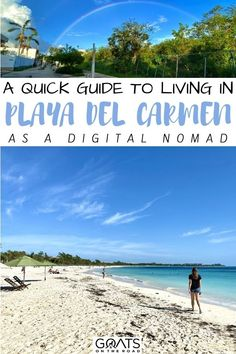Here is our quick guide to living in Playa del Carmen as a digital nomad! Everything you need to know, from cost of living, where to work from, where to live, what to do and more! Find out if Playa del Carmen is the right place for you! | #travel #mexicotravel #workremotely Mexico Vacation, Mexico Travel, Mexico Destinations, Travel Destinations, Beach Vacations, Beach Trip, Travel Hacks, Travel Tips, Central America