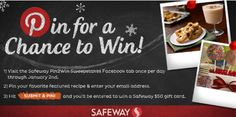 Enter to win a $50 Safeway gift card. #SafewayHoliday    Ends January 5, 2013 at 8 p.m. PST