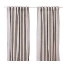 AINA linen curtains from IKEA. I want these for my living room! Ikea Curtains, Grey Linen Curtains, Nursery Curtains, Drop Cloth Curtains, Curtains Living, Hanging Curtains, Curtains With Blinds, Burlap Curtains, Panel Curtains