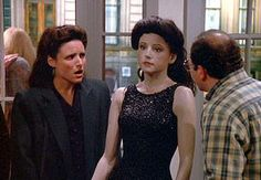 Elaine Benes and her...Seinfeld mannequin.