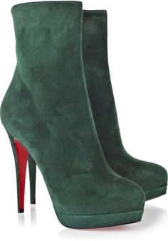 christian louboutin Alti Botty 140 Suede Boots - Lyst