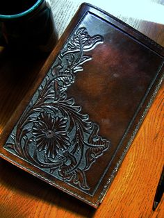 Leather Sheridan Style Executive portfolio small by BisonArtStudio, $62.50