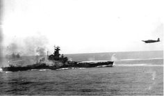 USS South Dakota and Japanese torpedo plane, Battle of Santa Cruz, 1942