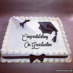 Graduation day is a very special day in everyone's life and the person wants to enjoy this occasion the most. Personalized Graduation Cakes for Boys and Girls. Graduation Cake Designs, College Graduation Cakes, Graduation Cake Toppers, Graduation Party Planning, Graduation Cupcakes, Graduation Party Decor, Congratulations Cake, Cake Name, Cakes For Boys