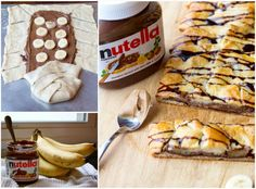 nutella peanut butter and banana braid