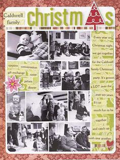 25 Christmas Scrapbook Pages: Use a Grid to fit Multiple Holiday Photos