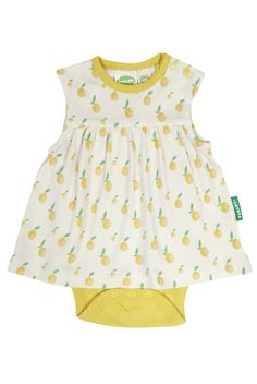 This adorable dress style is perfect for those warmer months. Pair with matching pants for a sweet set! Onesie Dress, Cute Dresses, Summer Dresses, Organic Baby Clothes, Sustainable Clothing, Organic Cotton, Onesies, Fashion Dresses, Skirts