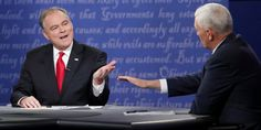 """One of the most-discussed aspects of Tuesday night's vice presidential debate was how often Sen. Tim Kaine interrupted Indiana Gov. Mike Pence 70+ times in 90 minutes.  It showed total disrespect for Anyone who doesn't believe the exact way he believes. Kaine spent all of his time spitting out pre-rehearsed """"one liners"""" instead of talking about The Real Issues America is facing right now. It was so Off Putting!"""