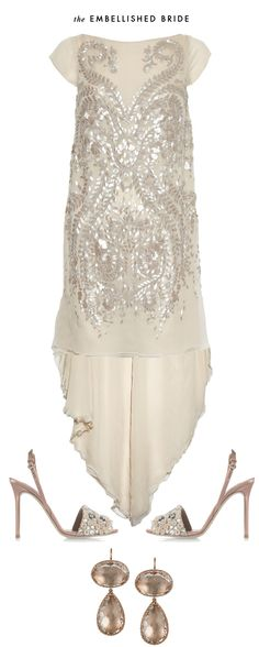 Share Tweet + 1 Mail The embellished bride adorns herself in fanciful details like sequins and patterns. Pair this beautiful silk-chiffon Antonio Berardi with ...
