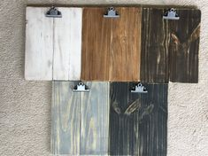 Rustic Distressed Wooden Pallet Clipboard Art/Photo Display