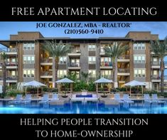CONTACT ME IF YOU ARE IN NEED OF AN APARTMENT IN SAN ANTONIO OR SURROUNDING  AREAS. LUXURY APARTMENTS AND TOWNHOMES AVAILABLE TOO!