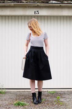 #Outfit# Midi-length Chardon skirt – Deer&Doe • the blog