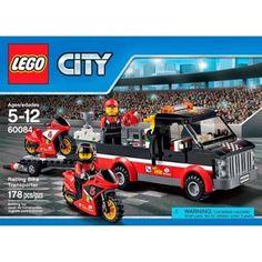 LEGO City Great Vehicles Racing Bike Transporter Set 178 Pieces Building Fun New #LEGO