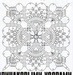 Crochet Motif Patterns, Crochet Blocks, Crochet Diagram, Crochet Squares, Crochet Granny, Filet Crochet, Crochet Designs, Granny Squares, Crochet Art