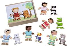 HABA Children of the World  36 Piece Mix and Match MultiCultural Puzzle with Wooden Storage Box ** Visit the image link more details. Note:It is affiliate link to Amazon. #tweegram