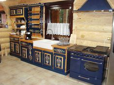 MyBlueKitchen - someday from mobilapictata. Home Interior, Interior Design Kitchen, Design Case, Home Kitchens, Painted Furniture, Liquor Cabinet, Indoor Outdoor, Home Goods, Living Room