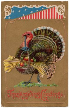 thanksgiving postcard | Vintage Thanksgiving Postcards: Free Digital Downloads