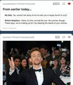 Such wit. Tom Hiddleston