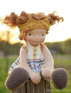 """Hadley"" a 20"" natural waldorf inspired cloth art doll by Glimmer Row"