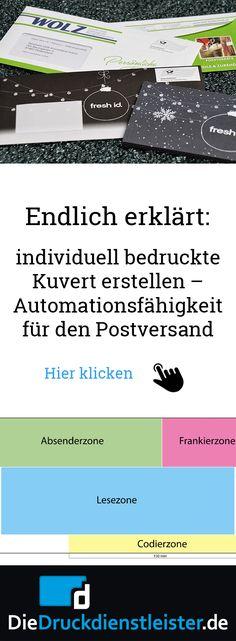 Ein Mailing mit individuell bedrucktem Kuvert erstellen - Automationsfähigkeit für den Postversand. #kuvertdesing #kuverts #kuvertbedrucken
