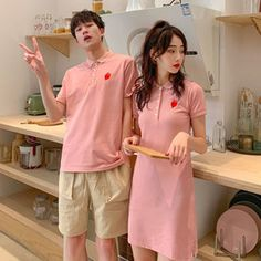 [Gmarket] Couple-Look/Couple T-Shirts/Men/Short-Sleeve Tee/Dresses/Honeymoon Matching Clothes Couple Shirts, Tee Dress, Matching Outfits, Summer Dresses, Couples, T Shirt, Clothes, Sleeve, Fashion