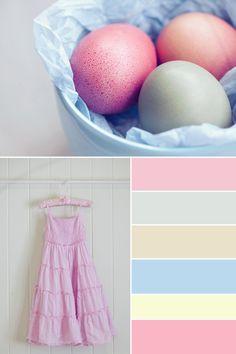 Liana's mood board for her children's Easter fun. So pretty!!