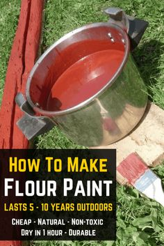 How To Make Flour Paint: Natural, Non-Toxic, Durable & Cheap https://knowledgeweighsnothing.com/how-to-make-flour-paint-natural-non-toxic-durable-cheap/