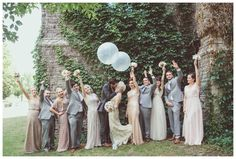 Wedding party at McMaster University. Great Gatsby themed wedding. Photo by New…