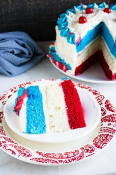 Patriotic Desserts, 4th Of July Desserts, Summer Desserts, Easy Desserts, Delicious Desserts, Patriotic Party, Patriotic Decorations, Fourth Of July Cakes, Fourth Of July Food