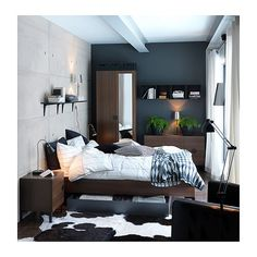 Note to self: bed w/ storage & hide rug- Ikea- for new apt. bedroom